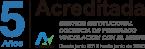 Logo 5 Años acreditada por gestión institucional, Docencia de pregrado y vinculación con el medio desde el 2015 al 2020