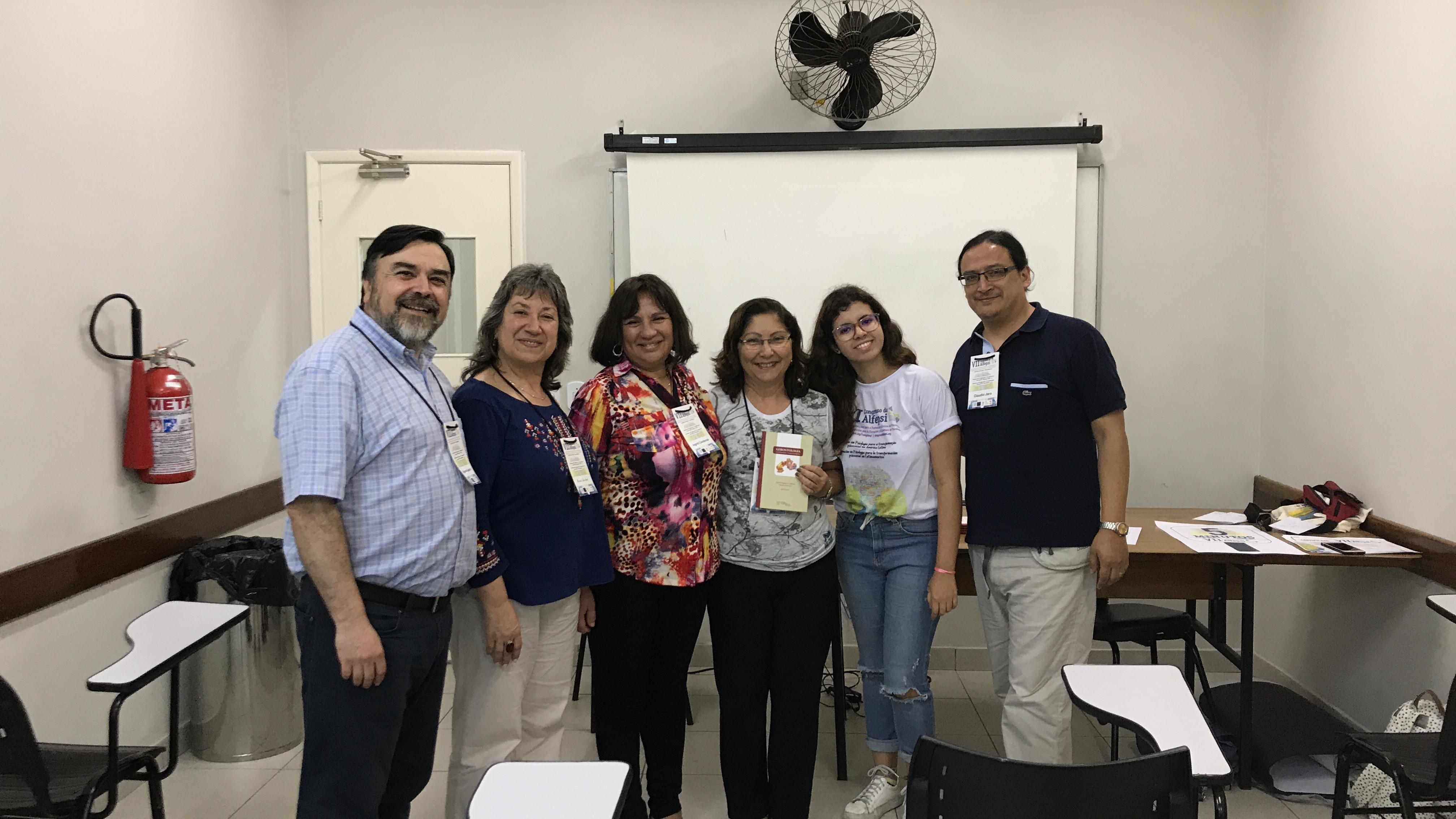 Académicos de Psicología y Trabajo Social exponen sobre adultos mayores en Rio de Janeiro