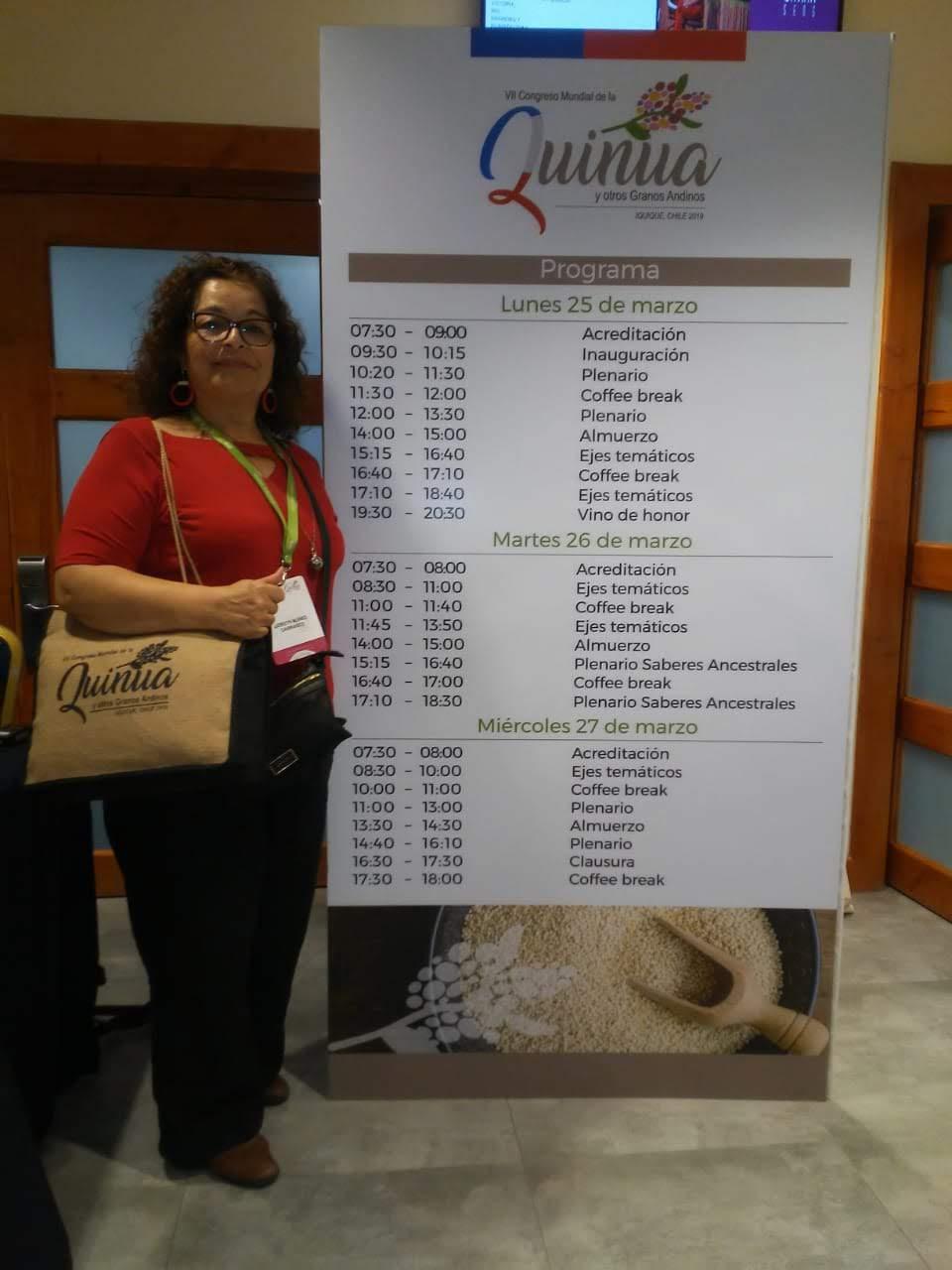 Académica de Trabajo Social de la UCM Curicó expone en congreso mundial de la quinua