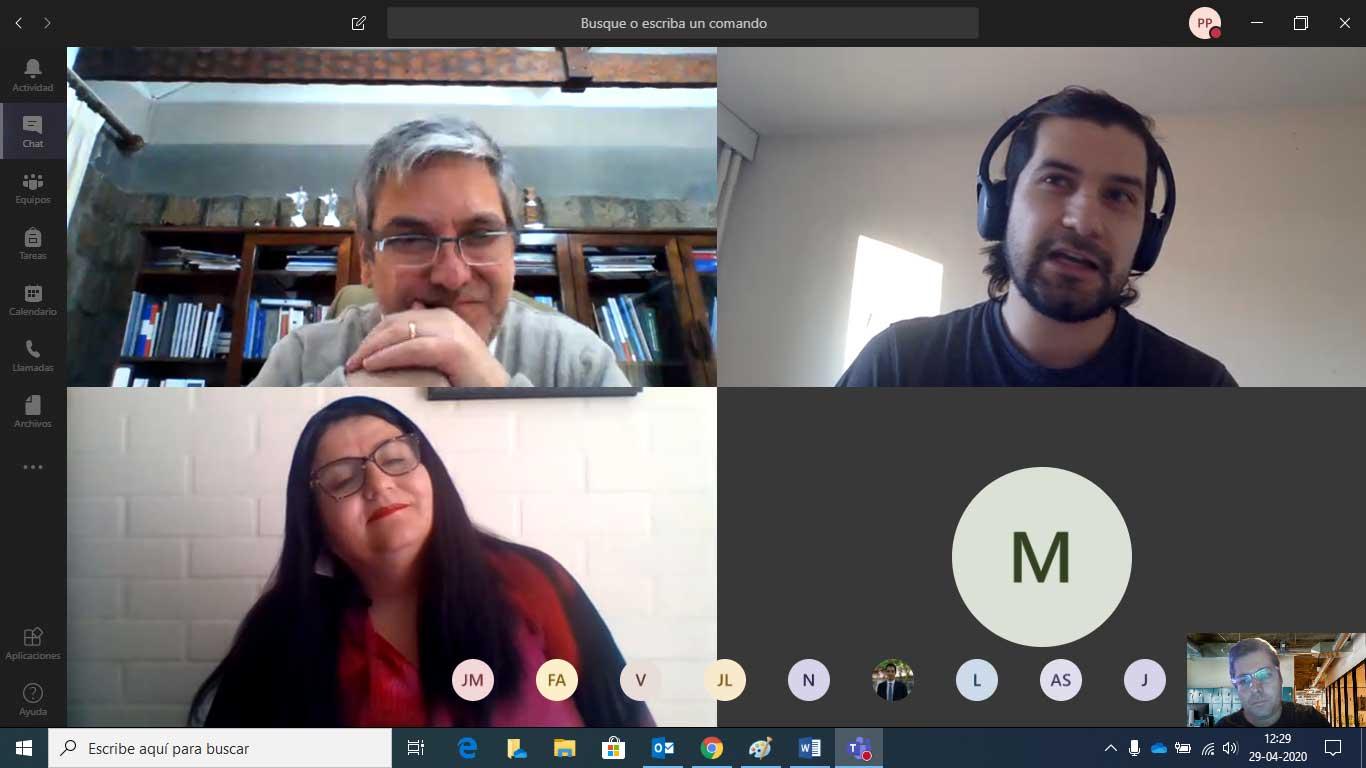 Estudiantes UCM que están realizando pasantías internacionales se reunieron de manera virtual con el rector
