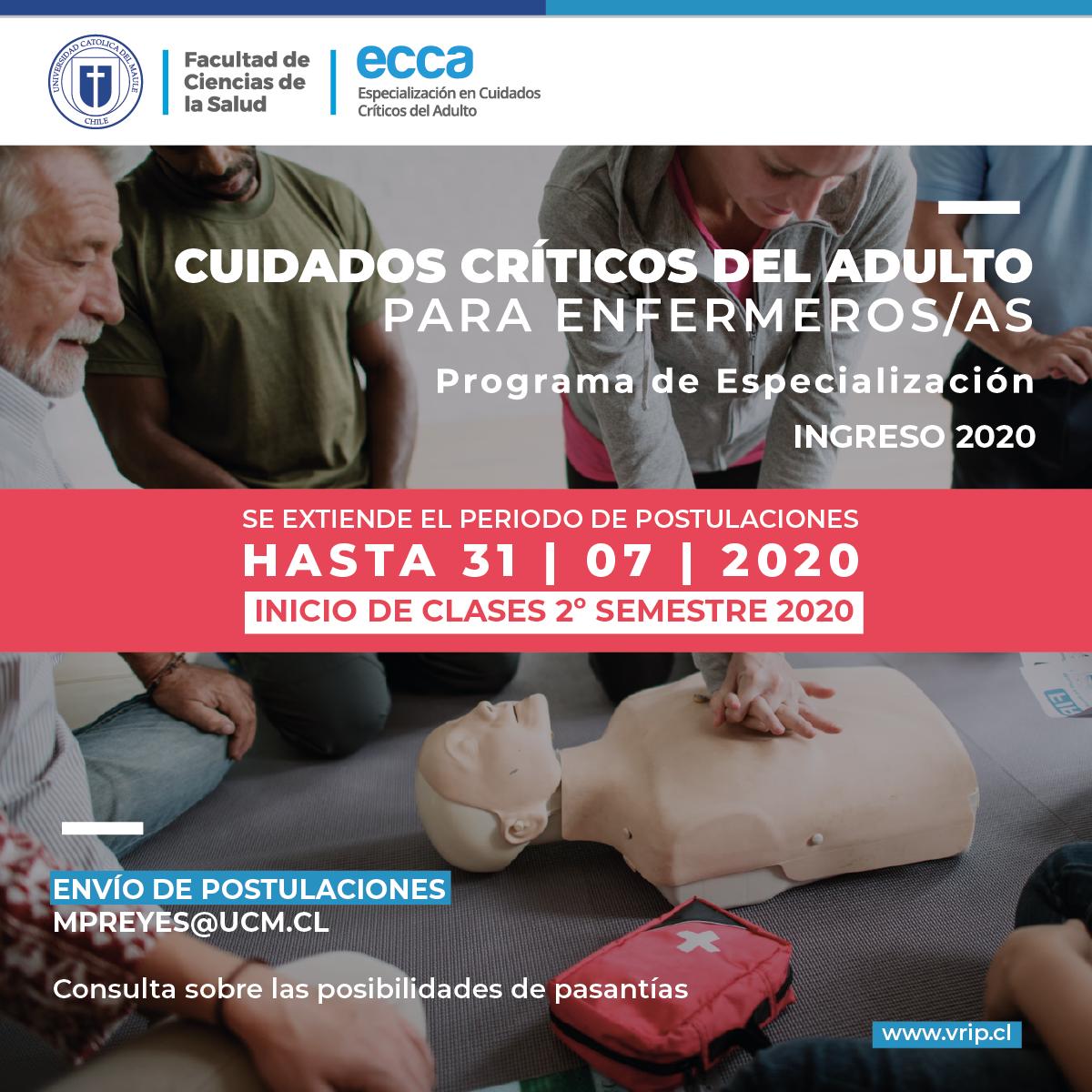 Especialización en Cuidados en Cuidados Críticos del Adulto