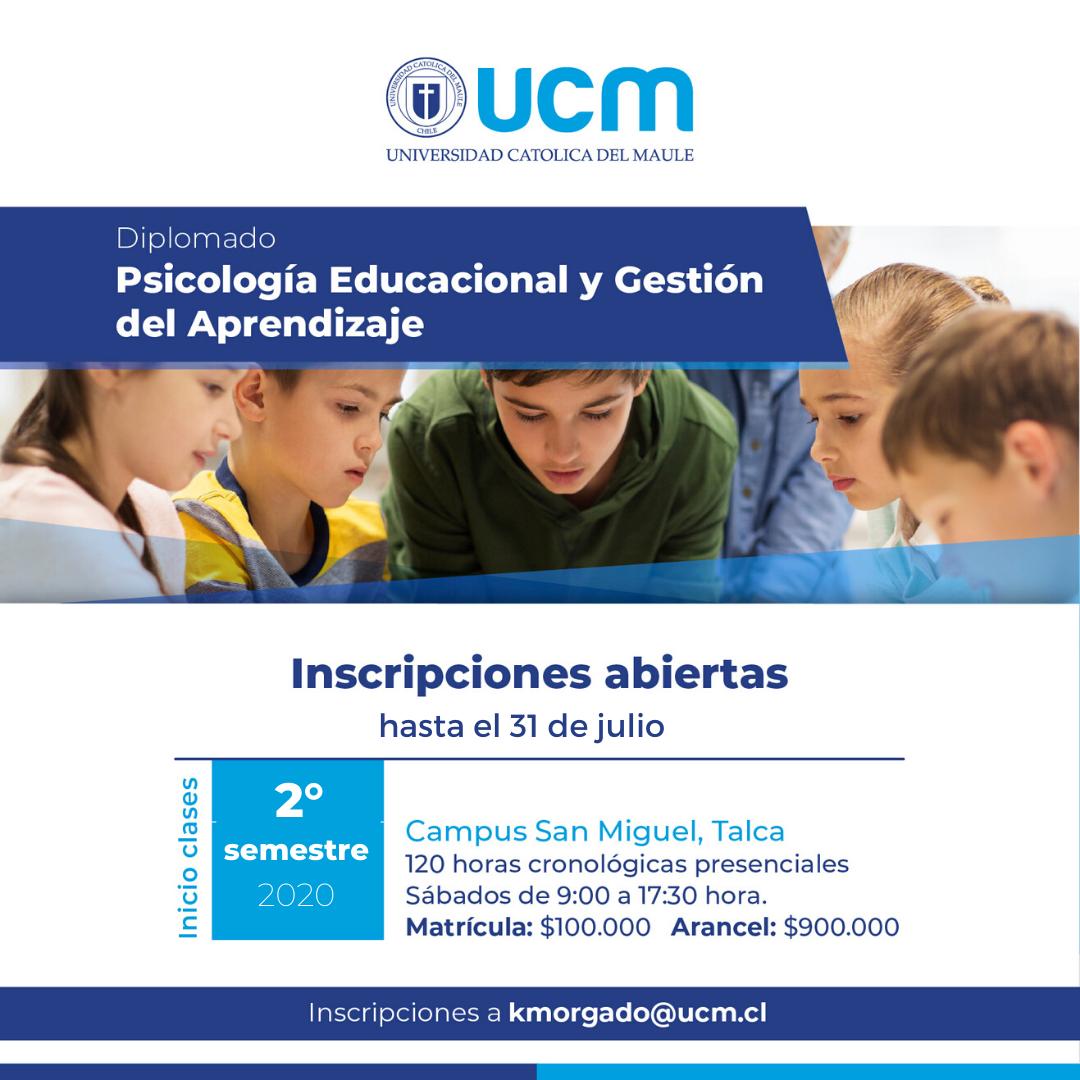 Diplomado en Psicología Educacional y Gestión del Aprendizaje