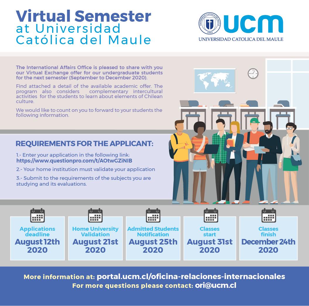 Estudiantes: Semestre Virtual en la Universidad Católica del Maule