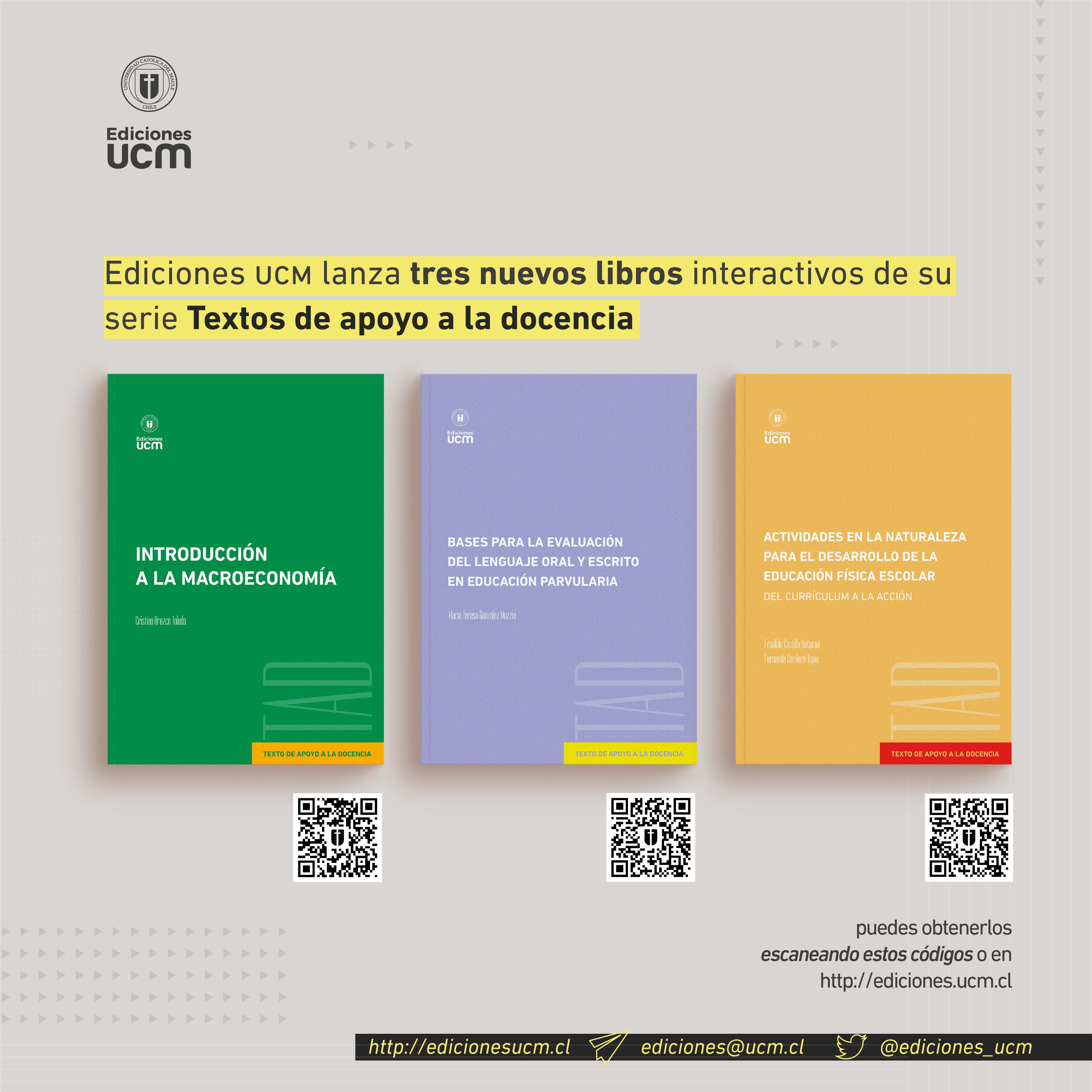 Ediciones UCM publica tres nuevos libros interactivos