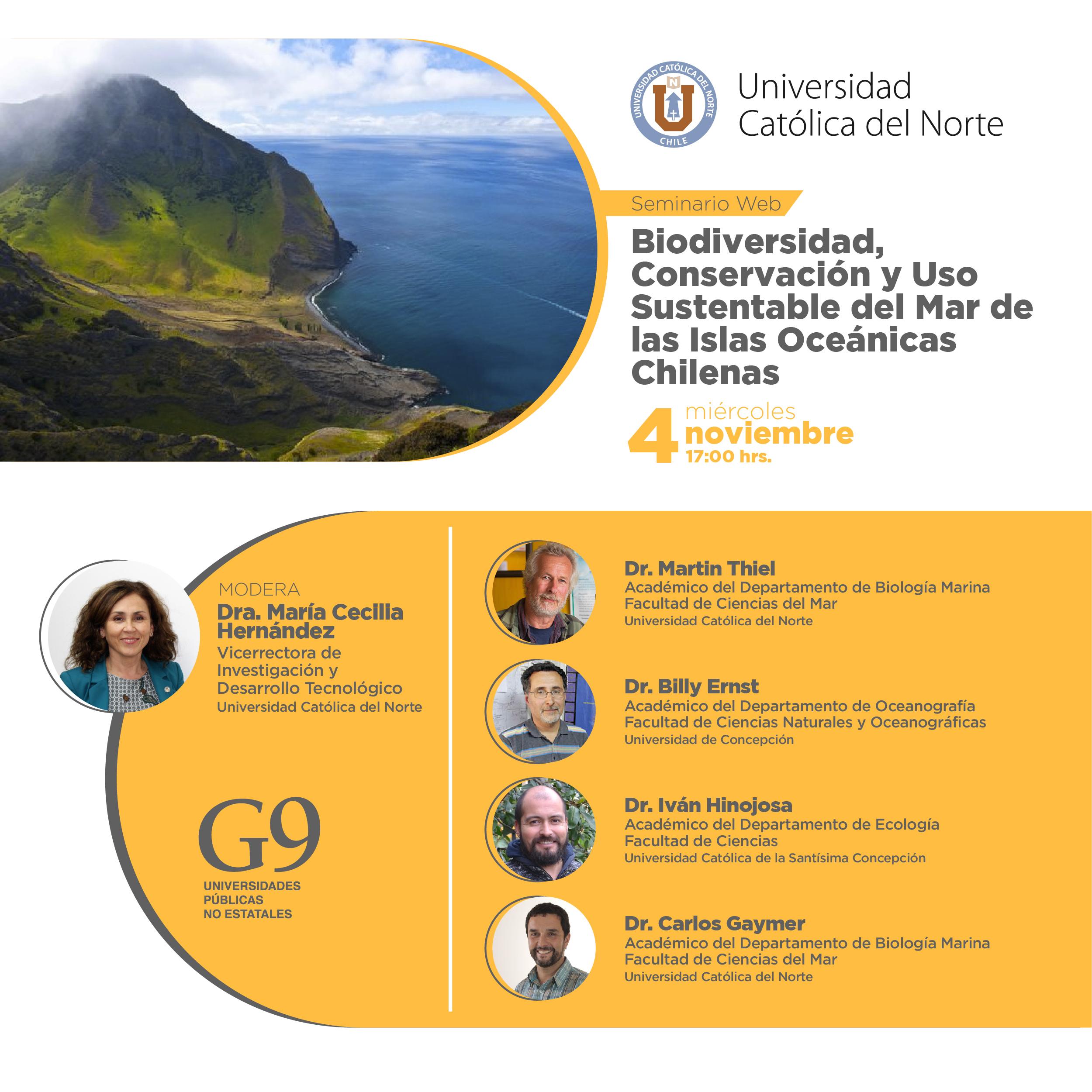 La Red G9 y la UCN invitan a conocer biodiversidad, conservación y uso sustentable del mar de las islas oceánicas