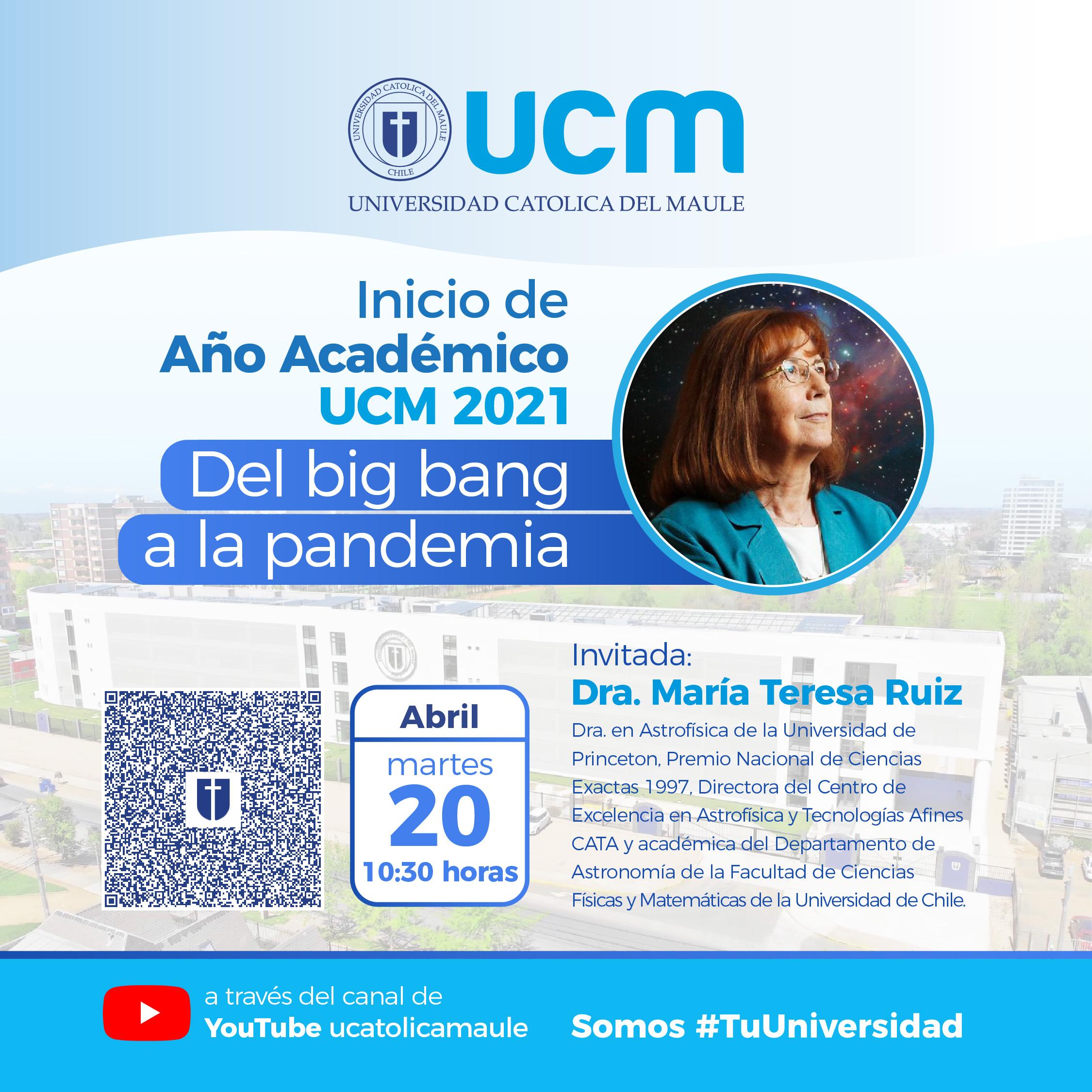 Destacada astrónoma Teresa Ruiz inaugurará año académico 2021 en la U. Católica del Maule