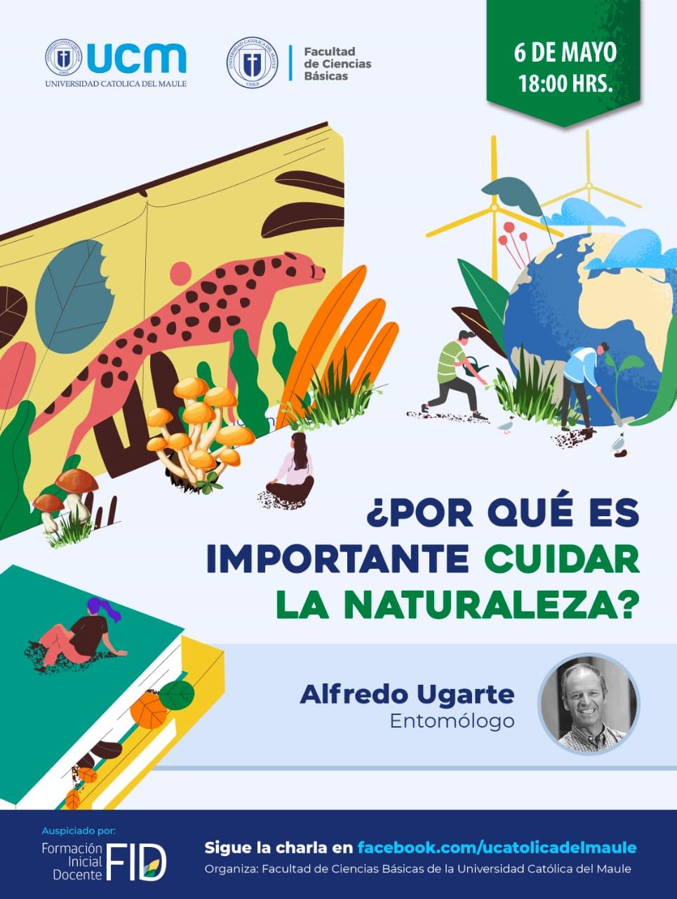 """El """"bichólogo"""" Alfredo Ugarte dirá por qué tenemos que cuidar la naturaleza en ciclo de ciencia de la UCM"""