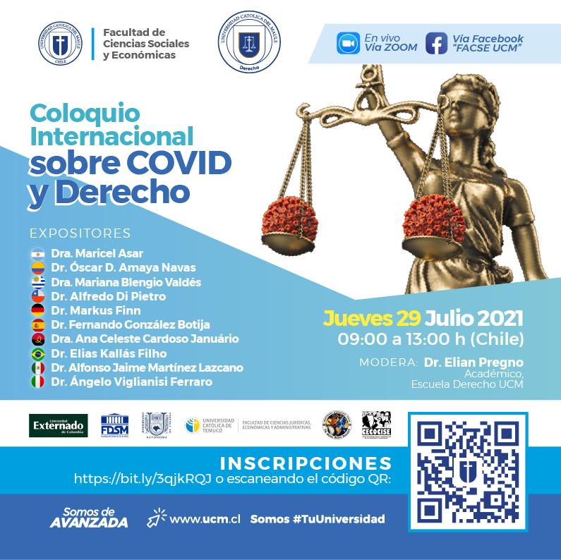 Coloquio internacional abordará los cambios e impacto del COVID-19 desde una mirada jurídica