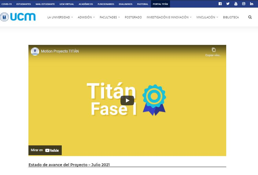 Titán consolida toda su información en nuevo portal