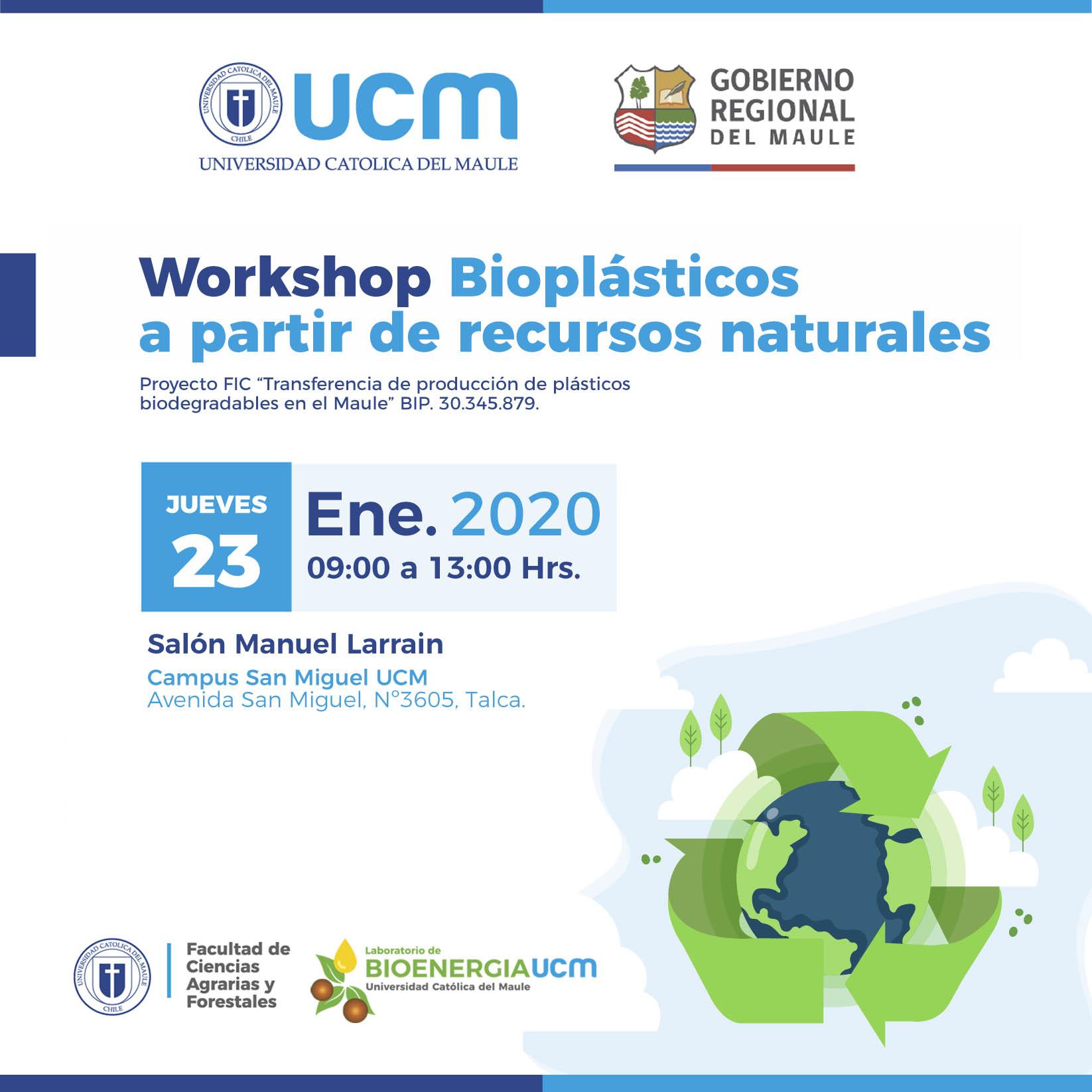 UCM invita a participar de Workshop sobre Bioplásticos