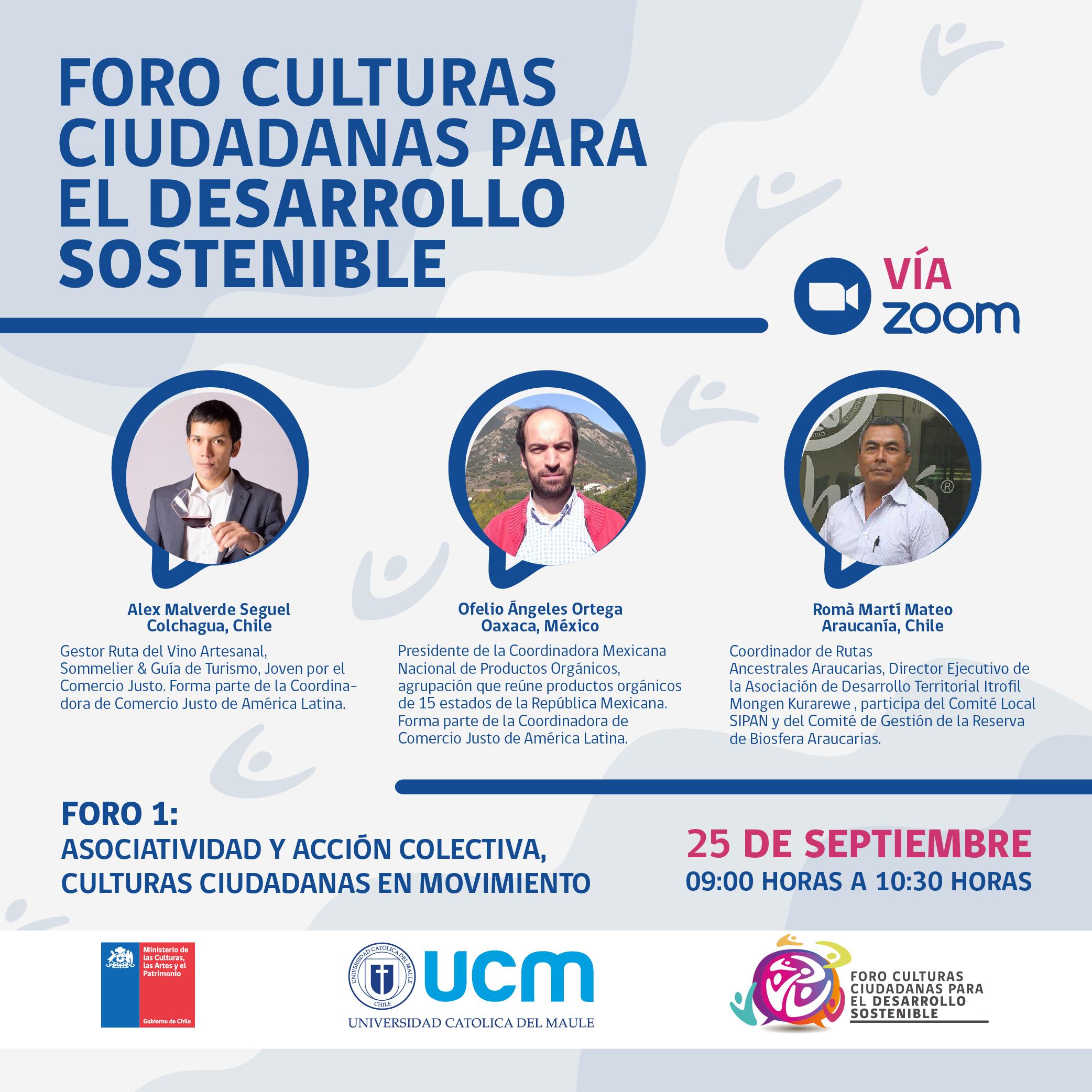 """Convocan a dirigentes sociales al """"Foro Culturas Ciudadanas para el Desarrollo Sostenible"""""""
