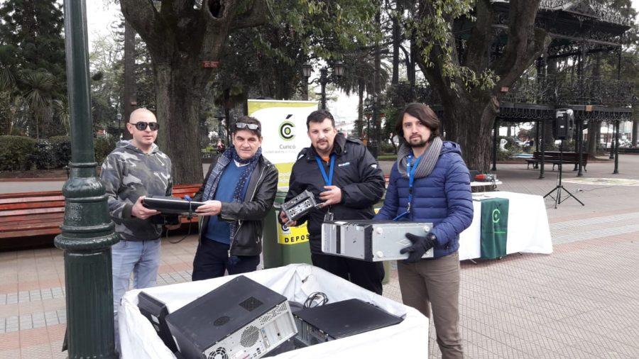 Campus Sustentable UCM junto a Municipalidad de Curicó lideran Feria de Reciclaje Electrónico