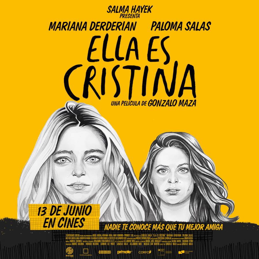 """Con Salma Hayek en la producción ejecutiva, se estrena película chilena """"Ella es Cristina"""""""