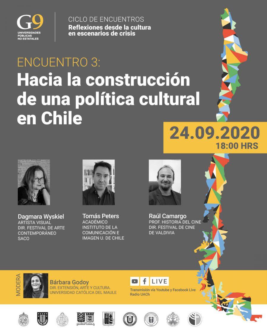 Políticas Culturales y economías creativas serán foco del tercer encuentro virtual de la Red de Universidades G9