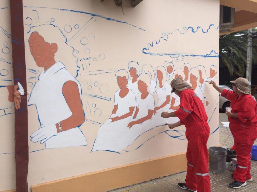 Comienza a concretarse el mural inspirado en las Escuelas Normales