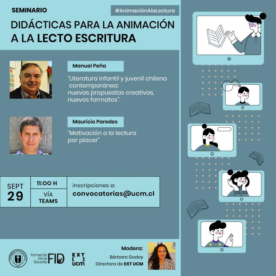 """Seminario abordará las """"Didácticas para la animación a la Lecto Escritura"""""""